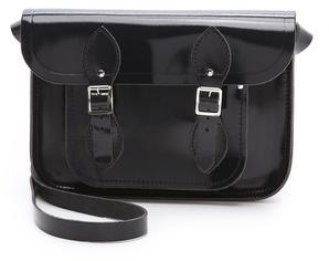 "Cambridge Silversmiths satchel Patent Leather 11"" Satchel"