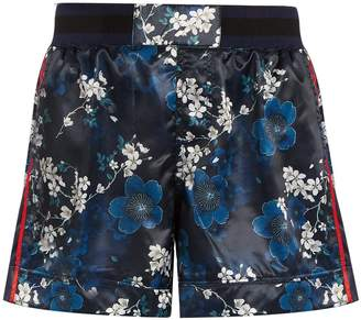 The Upside Garda Cherry Blossom-print shorts