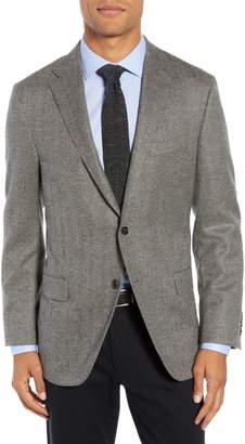 Hickey Freeman Classic Fit Herringbone Wool & Cashmere Sport Coat