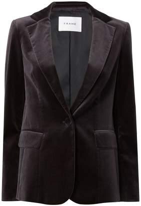 Frame Charcoal Velvet Blazer