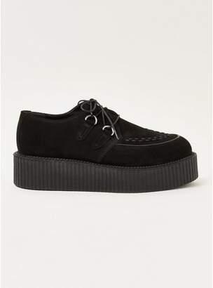 Topman Mens Black Wedge 'Colt' Derby Shoes