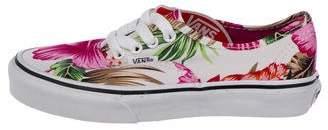 Vans Boys' Printed Canvas Sneakers