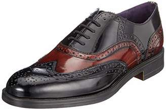 Ted Baker Men s ADIMIR Brogues Dark Red Black 1e716960cfa9