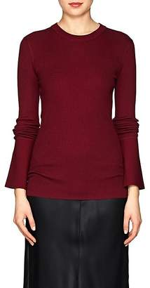 Proenza Schouler Women's Rib-Knit Silk-Blend Sweater - Wine