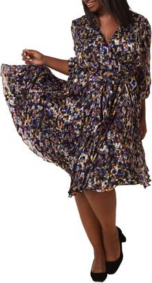 Maree Pour Toi Print Wrap Dress