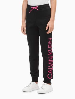Calvin Klein girls logo drawstring sweatpants