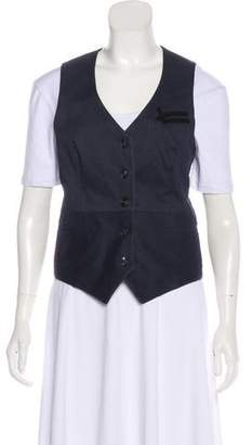 William Rast Embroidered Pinstripe Vest