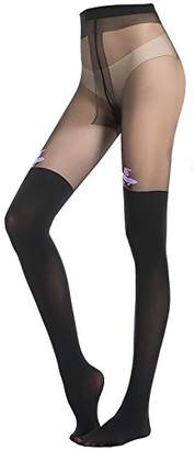 Stocking Fox Women's Halloween Witch Prints Tights Pants