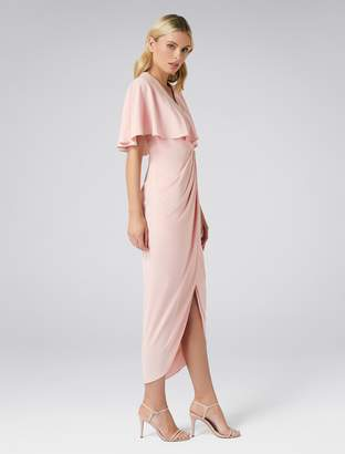 Forever New Florence Cape Dress - Nude - 4