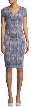 MICHAEL Michael Kors Plaid Jacquard Body-Con Dress