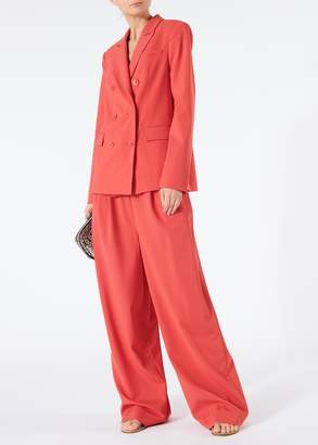 Tibi Tropical Wool Steward Blazer
