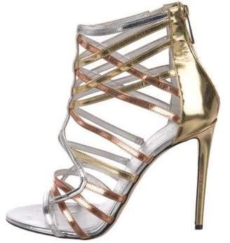 Tamara Mellon Leather Caged Sandals