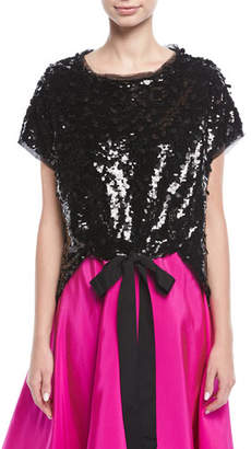 Sachin + Babi Besant Short-Sleeve Sequin Top
