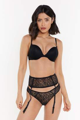 d69d96936400f Nasty Gal Mix & Match Black Lace Suspender Belt