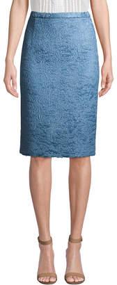 Oscar de la Renta Micro Floral Pencil Skirt