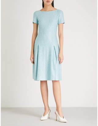St. John Sequin-embellished knitted jersey dress