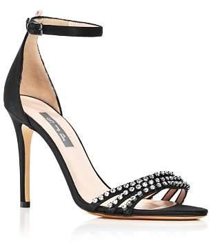 Sarah Jessica Parker Women's Darcy Embellished Satin High Heel Sandals