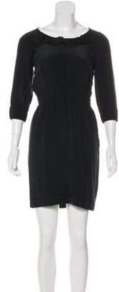 Stella McCartney Silk Cutout-Accented Mini Dress Black Silk Cutout-Accented Mini Dress