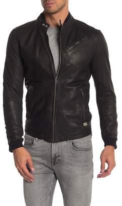 Diesel Leather Perforated Zip Jacket