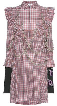 Vetements Embellished plaid cotton dress