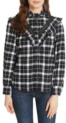Kate Spade rustic plaid flannel shirt
