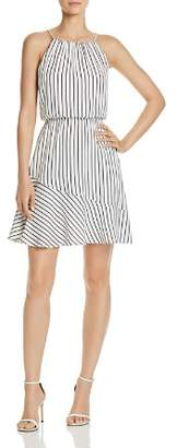 Aqua Stripe Fit-and-Flare Dress - 100% Exclusive