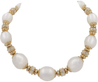 One Kings Lane Vintage 1950s Napier White Moonglow Necklace