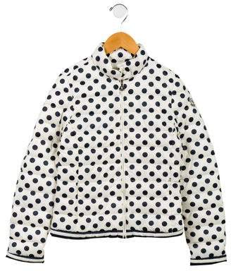 Moncler Girls' Polka Dot Dorine Jacket