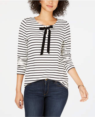 Charter Club Cotton Striped Top