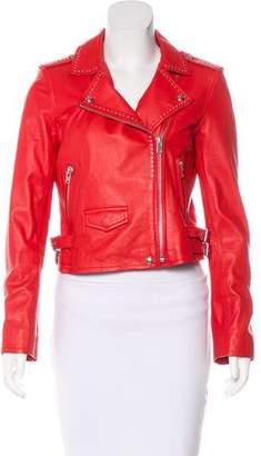 IRO Embellished Leather Jacket