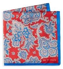 Etro Floral Silk Pocket Square