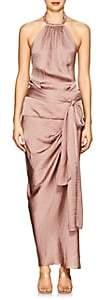 Juan Carlos Obando Women's Draped Satin Halter Dress - Pink