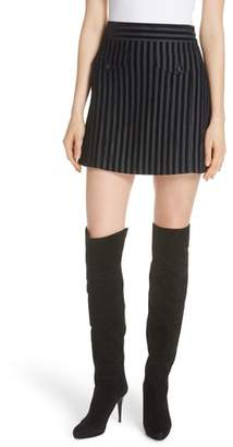 Derek Lam 10 Crosby Stripe Cotton Blend Miniskirt
