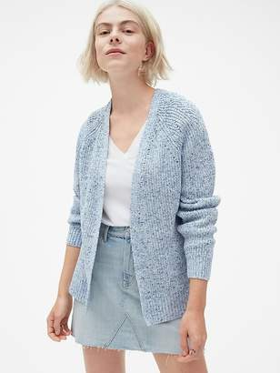 Gap Relaxed Pointelle Open-Front Cardigan Sweater