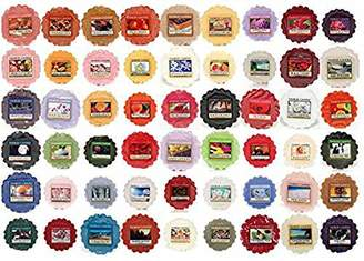 Yankee Candle Wax Tarts - Grab Bag of 10 Assorted Wax Melts - Random Mixed Scents with BONUS yellow organza bag