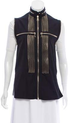 Givenchy Zipper-Accented Collarless Vest