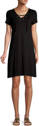 Calvin Klein Lace-Up T-Shirt Dress