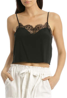 Miss Shop Chopped Lace Cami