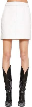 Givenchy High Waist Leather Mini Skirt