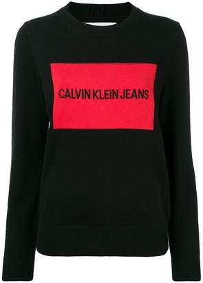 Calvin Klein Jeans logo embroidered sweater