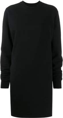 Rick Owens cut-out detail long sweatshirt