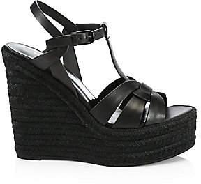 227180324c7 Saint Laurent Women s Tribute Espadrille Wedge Sandals