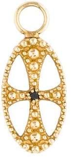 Charm 14K Diamond Cross