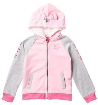 Betsey Johnson Ponte Unicorn Faux Fur Lined Bomber Jacket (Big Girls)
