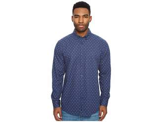 Ben Sherman Long Sleeve Two-Tone Floral Print Shirt Men's Long Sleeve Button Up
