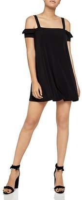 BCBGeneration Cold-Shoulder A-Line Swing Dress