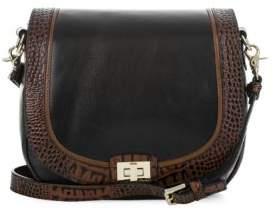 Brahmin Sonny Tuscan Tri-Texture Leather Saddle Bag