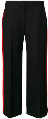 Alexander McQueen side stripe cropped trousers