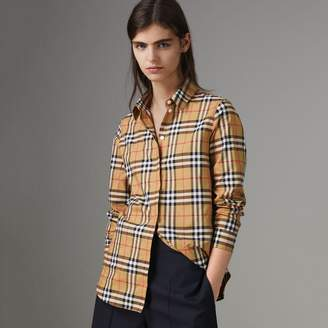 Burberry Vintage Check Cotton Shirt , Size: 16