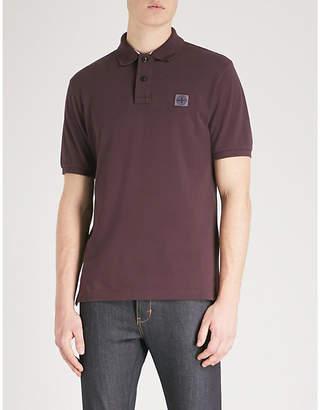 Stone Island Logo-embroidered stretch-cotton polo shirt